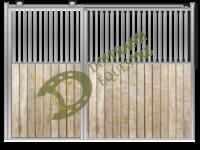 Visuel d'une façade porte coulissante de box modèle Chopin