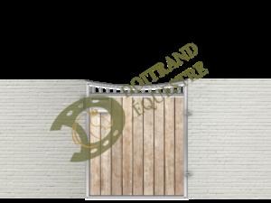 Dessin d'une porte de box 1 volet modèle Alsace