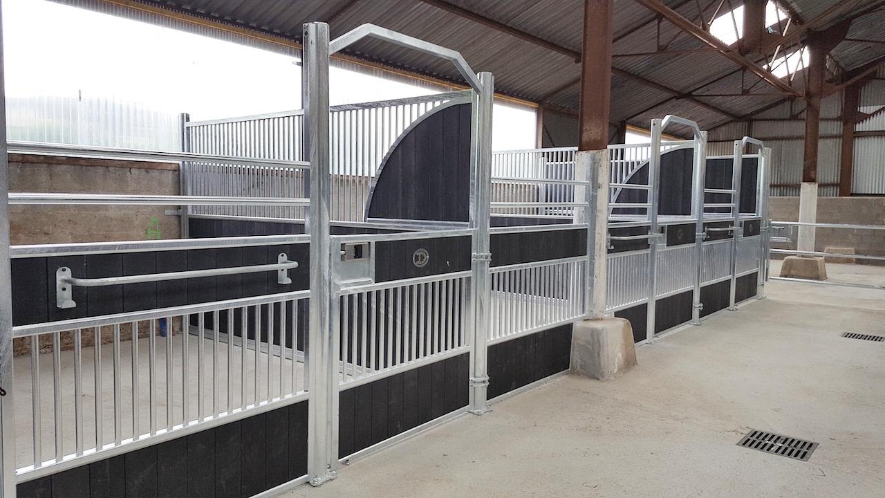Aménagement des écuries de Longchamp façades de boxes Doitrand Equestre modèle GS (boxes de droite)