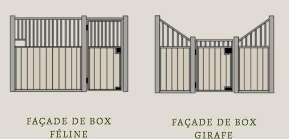 Dessins de 3 façades série faune Doitrand Equestre