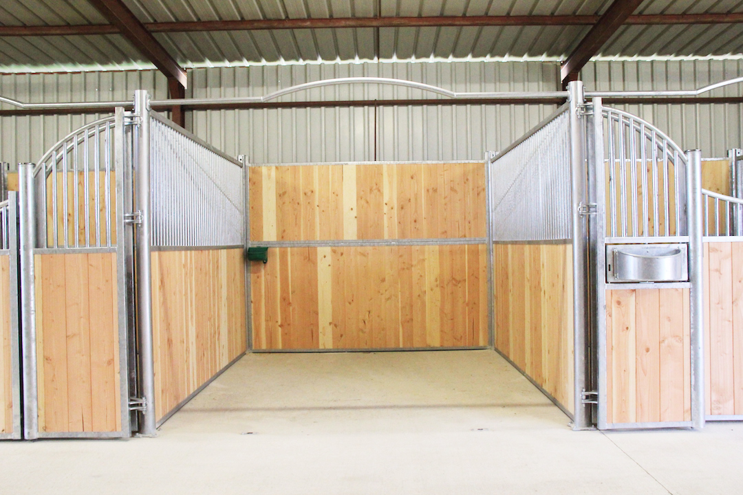 Façade de box modèle Lion avec ouverture totale de la porte