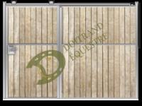 Visuel d'une façade de sellerie porte coulissante de box modèle Bellini