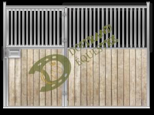 Visuel d'une façade porte battante de box modèle Berlioz 2