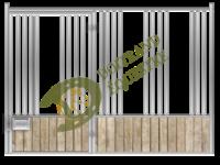 Visuel d'une façade stabulation de box modèle Mozart