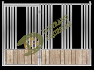 Visuel d'une façade porte battante avec passage de tête pour stabulation