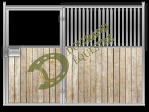 Visuel d'une façade porte battante de box modèle Ravel