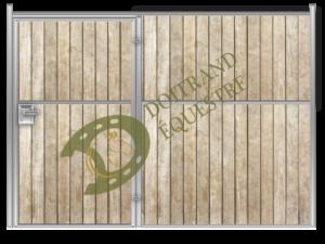 Visuel d'une façade de sellerie porte battante de box modèle Vivaldi
