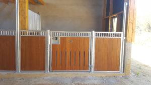 box pour cheval modèle paint en bambou
