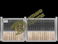 Visuel de la façade de box pour chevaux grillagée (modèle Figerro)