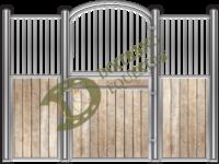 Visuel façade de box pour chevaux modèle Ours 2 avec 2 volets