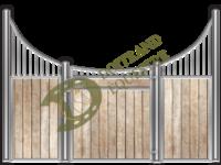 Visuel d'une façade de box faune modèle Zèbre